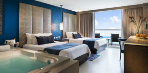 hard rock hotel cancun double bed